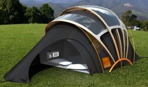 campeggio pannelli solari